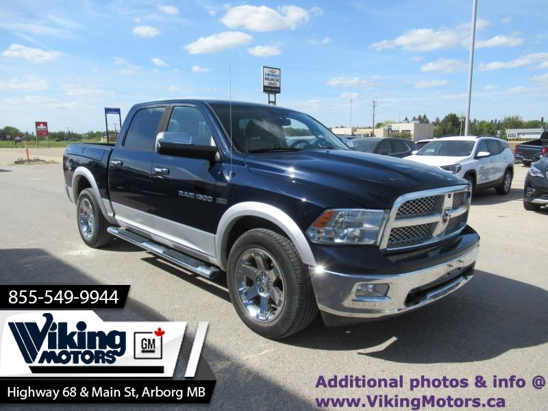 Pre-Owned 2012 Ram 1500 LARAMIE CREW 4X4 - Navigation - Leather Seats