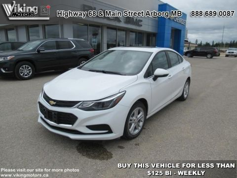 Pre-Owned 2017 Chevrolet Cruze LT - Bluetooth - SiriusXM - $115.32 B/W