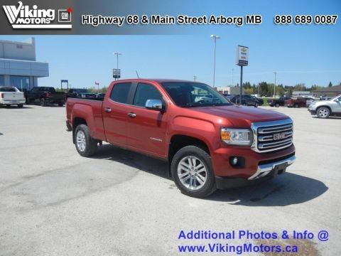 Pre-Owned 2015 GMC Canyon 4WD SLT - Leather Seats - Bluetooth - $190.19 B/W